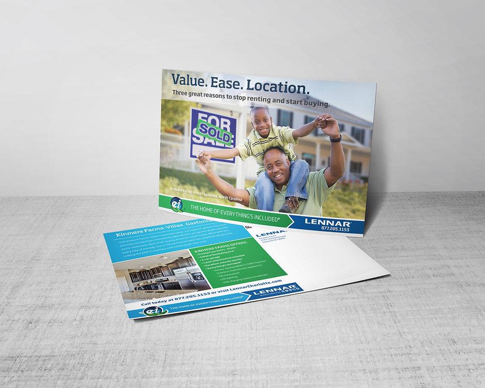 lennar, Ellie Platt, direct mail, postcard