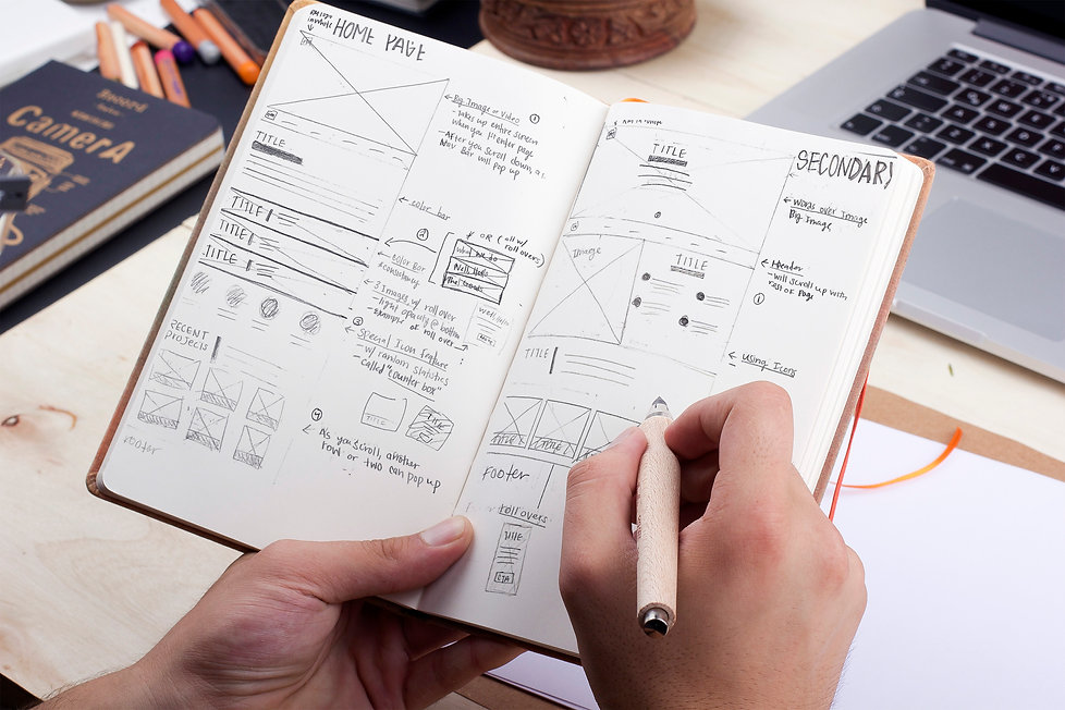 Ellie Platt, Rawle Murdy, website design, sketches