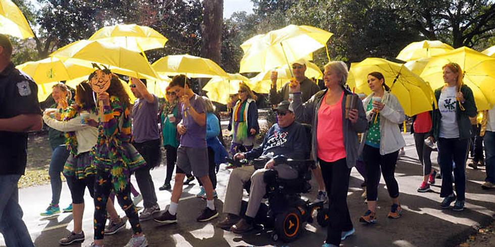 Umbrella Walk & Gumbo Gras
