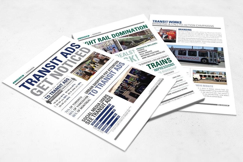 Lamar Advertising, transit design, flyer