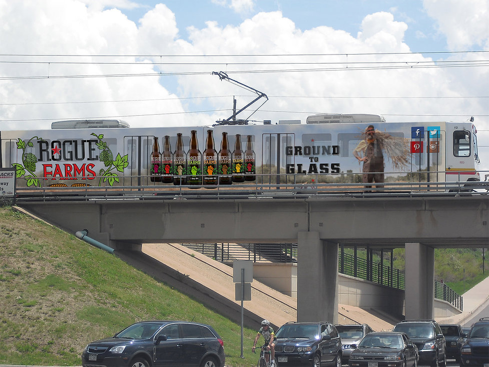 Lamar Advertising, Transit, Rogue Ales & Spirites, transit design, light rail