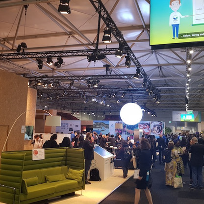 Pavilions in exhibtion hall at COP23.jpg
