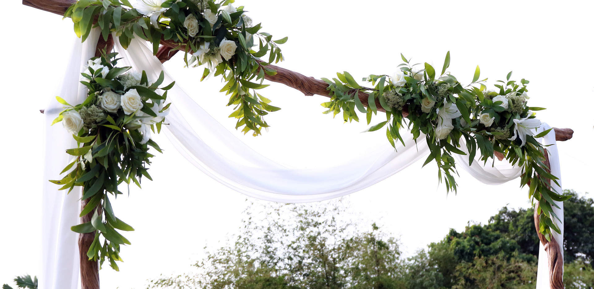 Ceremony arch detail