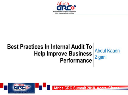11. Expert Talk  Mr. Abdul Kadri Zigani, Head, Internal Audit, Public Procurement Agency.jpg