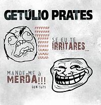 """Capa do disco """"Se eu te irritares, mande-me à merda!!!"""" Getúlio Prates, 2012"""