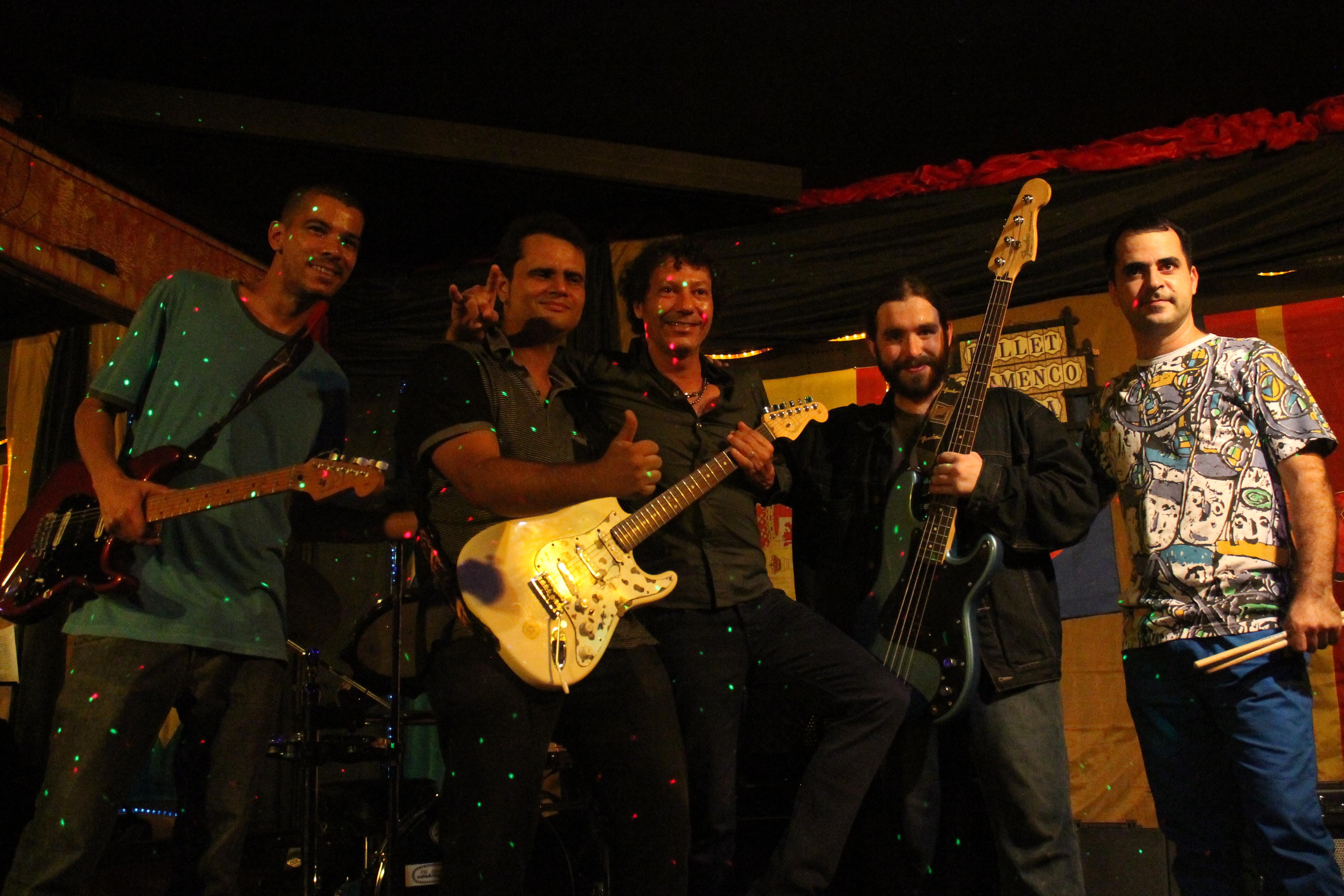 A banda, junto com Wilmar Silva