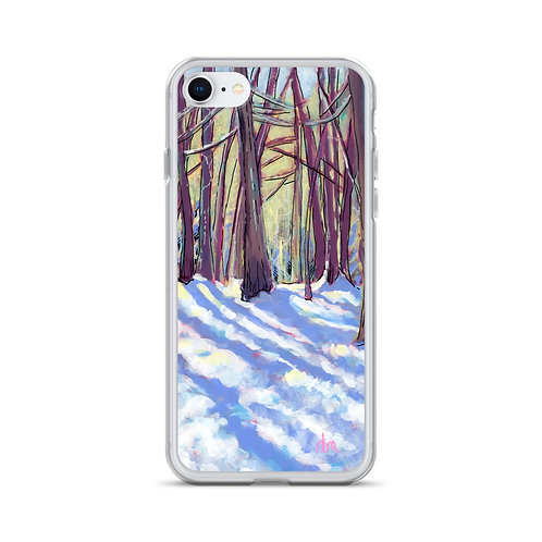 Winter Afternoon Walk iPhone Case