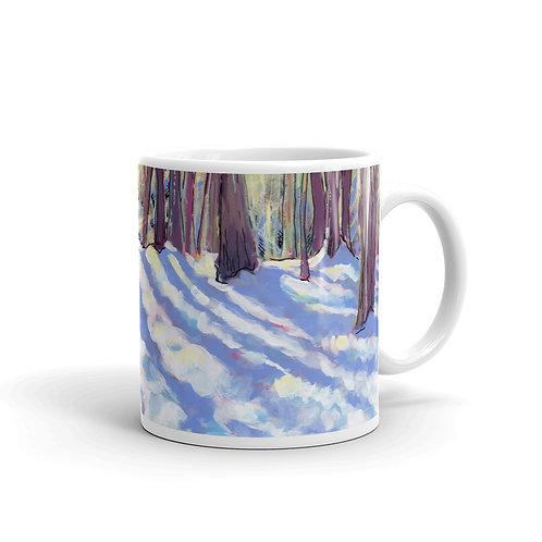 Winter Afternoon Walk mug