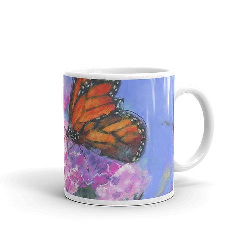 Butterfly on Lilacs mug