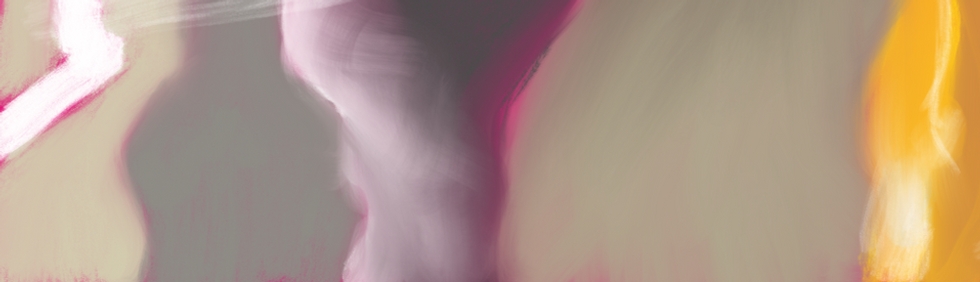 Abstract water lily digital painting
