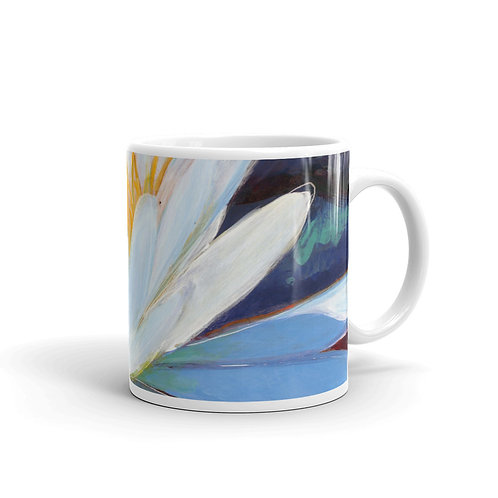 Sun on a Waterlily mug
