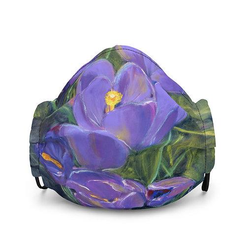 Spring Crocuses Premium Face Mask