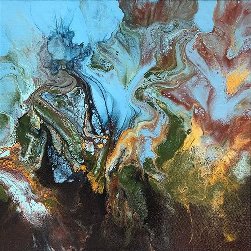 Ocean Jazz 12 x 12 canvas