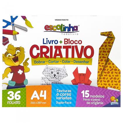 ESCOLINHA LIVRO + BLOCO CRIATIVO (ORIGAMI)