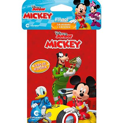 Mini Solapa Mickey Com 6 Livros
