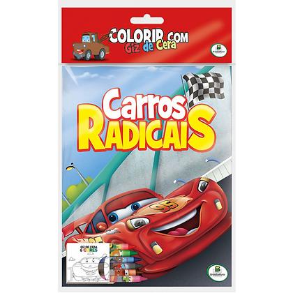 COLORIR COM GIZ DE CERA: CARROS RADICAIS