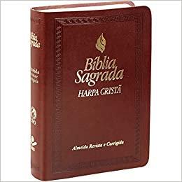 Bíblia Sagrada Letra Maior com Harpa Cristã e Fonte de Bênçãos - Capa Marrom