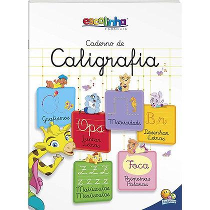 ESCOLINHA CADERNO DE CALIGRAFIA