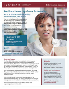 Fordham University Graduate School of Education Flyer