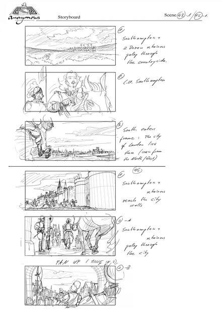 Storyboard Sc43-45 (Southampton enters)