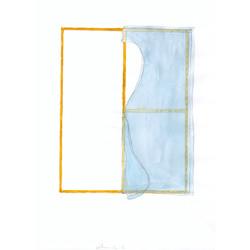 solitude # 1, 2003, pencil, watercol