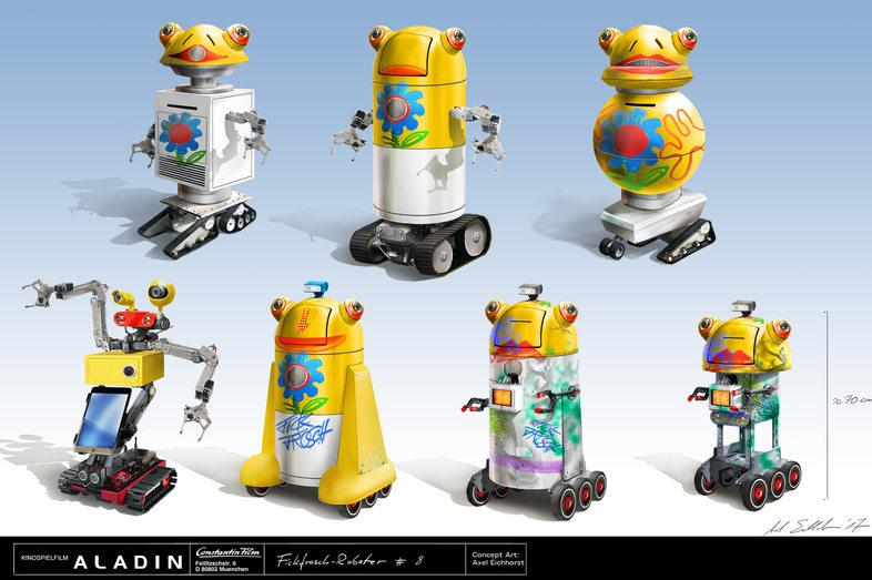 Fickfrosch-Roboter Versions