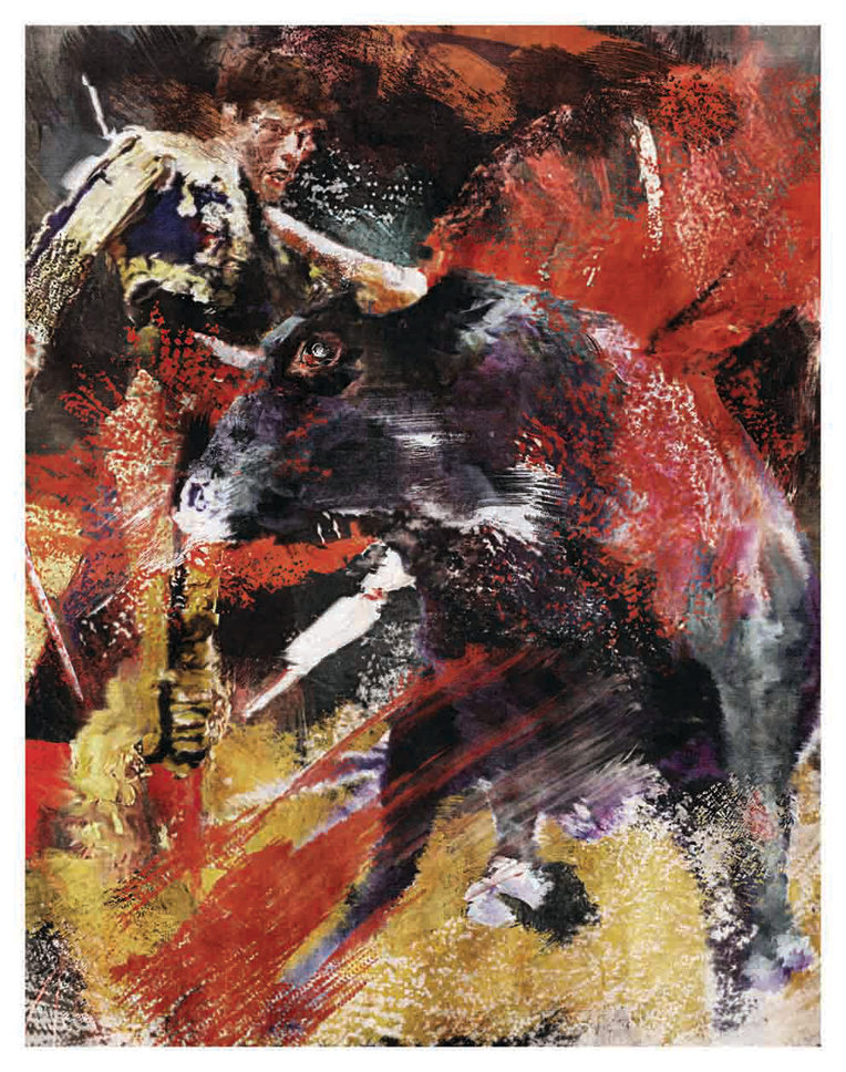 Stierkampf (Bullfight) - Setdecpainting