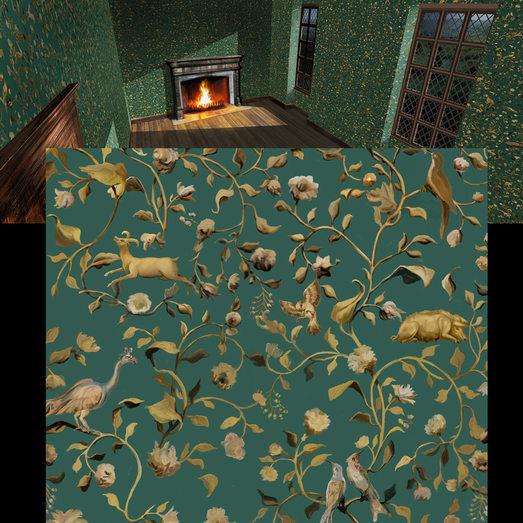 WALLPAPER Elizabeth Bedroom CU