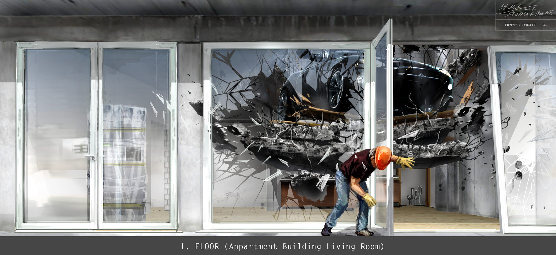 1. FLOOR (Appartment Building Living Roo