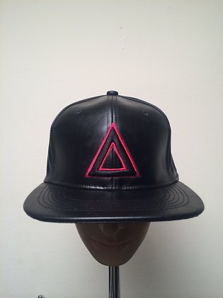 BLK LEATHER RED TRI