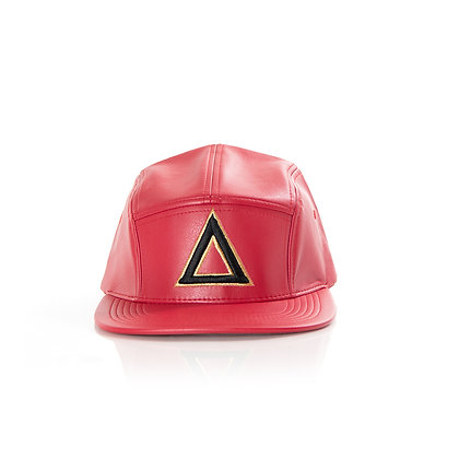RED LEATHER 5 PANEL