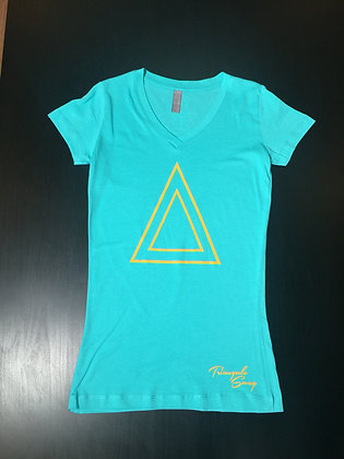TRIANGULO T (TEAL /YELLOW)