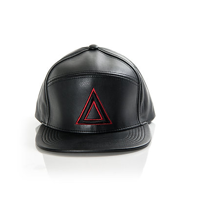 BLACK 7 PANEL LEATHER RED