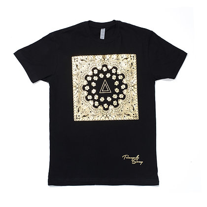 EMBROIDERY TEE GOLD