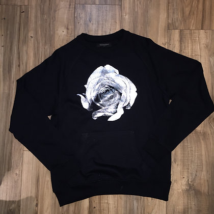 SILVER ROSE CREW NECK