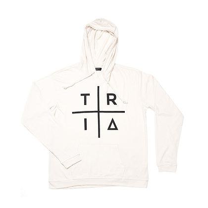 TRI HOODIE WHITE / BLACK
