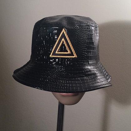 leather buket hat