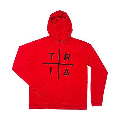 TRI HOODIE RED / BLACK