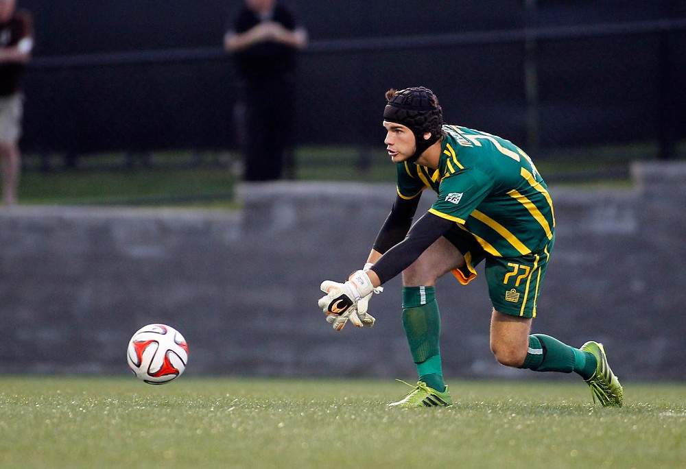 John McCarthy playing for the Rochester Rhinos