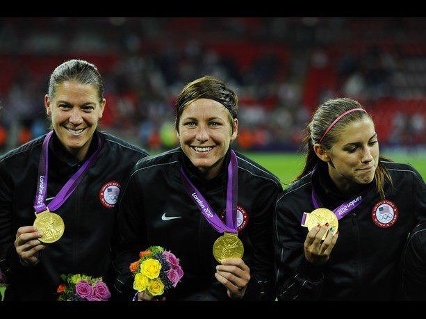 Nicole Barnhart Olympic Gold Medal Abby Wambach Alex Morgan