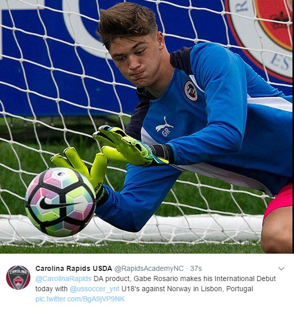 Gabe Rosario US U-18 National Team
