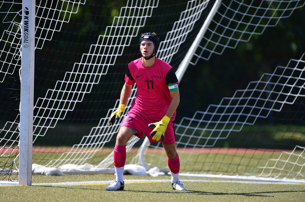 John McCarthy playing for Lasalle men's soccer