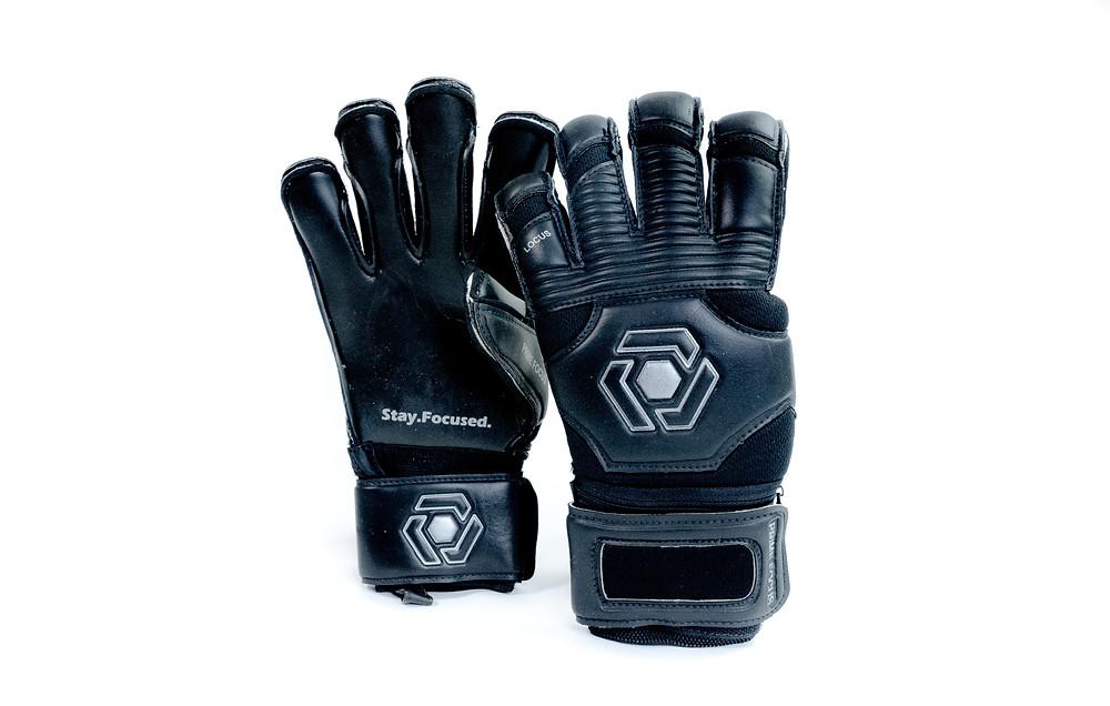Black Goalkeeper Gloves Soccer