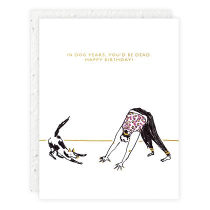 Downward Dog Card