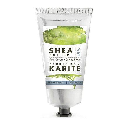 Peppermint 15% Shea Butter Dry Skin Foot Cream