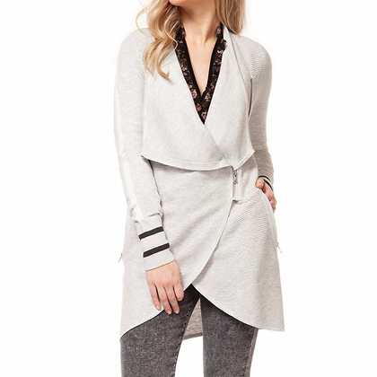 Grey Zip Cardigan