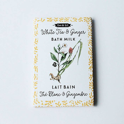 White Tea & Ginger Flower Bath Milk Sachet