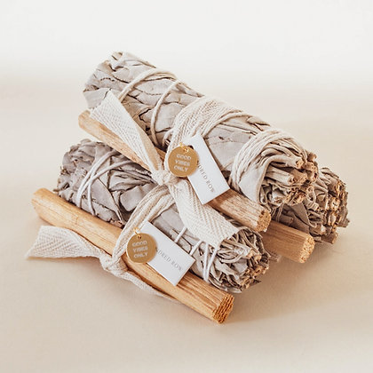 California White Sage and Palo Bundle, Good Vibes Only