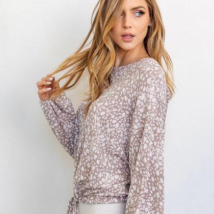 Rosalie Abstract Long Sleeve Top