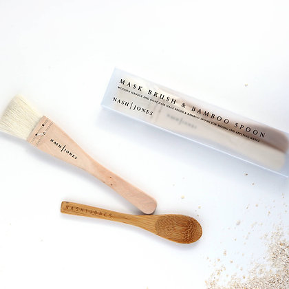 Mask Brush and Bamboo Spoon